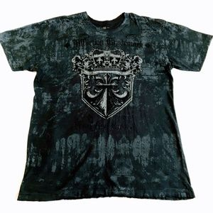 Affliction Live Fast Distressed Tee